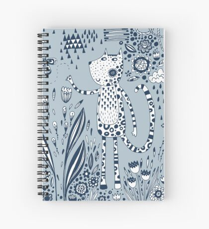Many Happy Hours in the Garden Spiral Notebook
