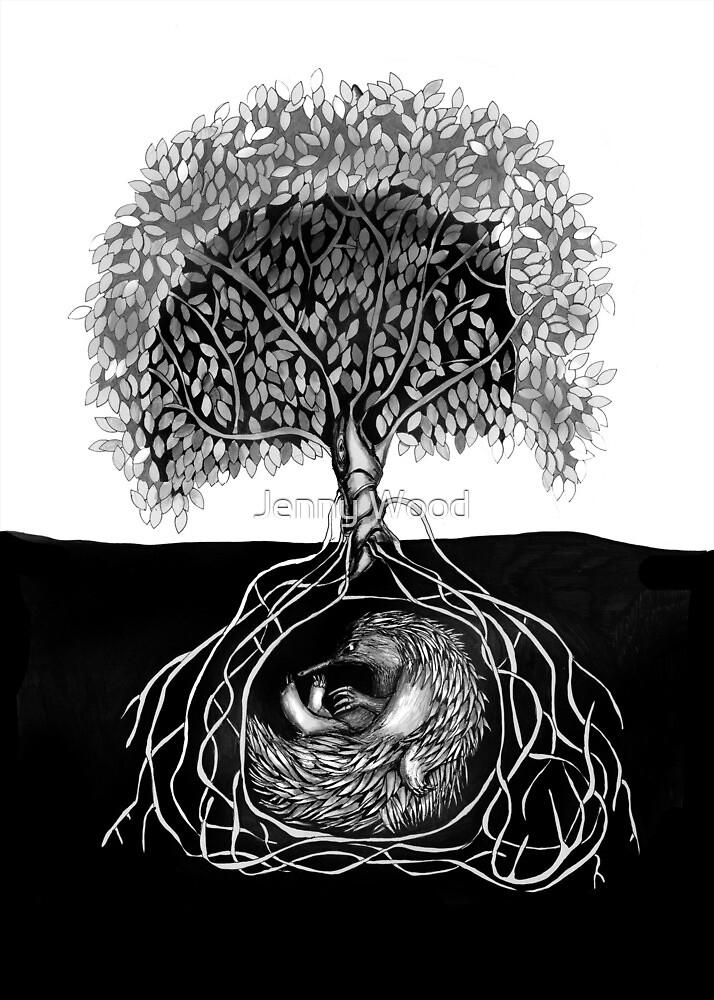 « Echidna sous » par Jenny Wood