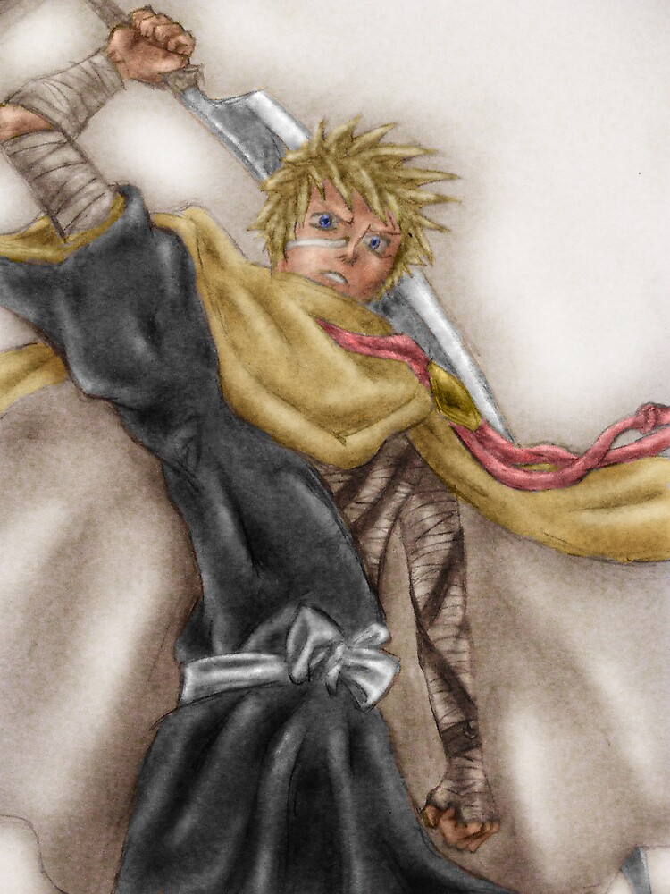 Ichigo Kurosaki (Coloured) by Justin Fielding