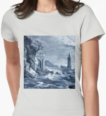 Sea storm Womens Fitted T-Shirt