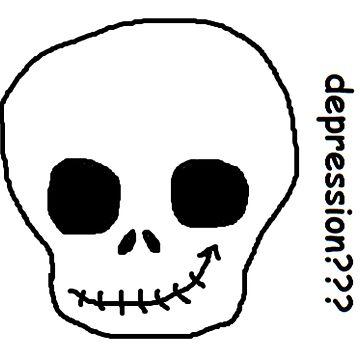 depression skull (blanc) by ursafish
