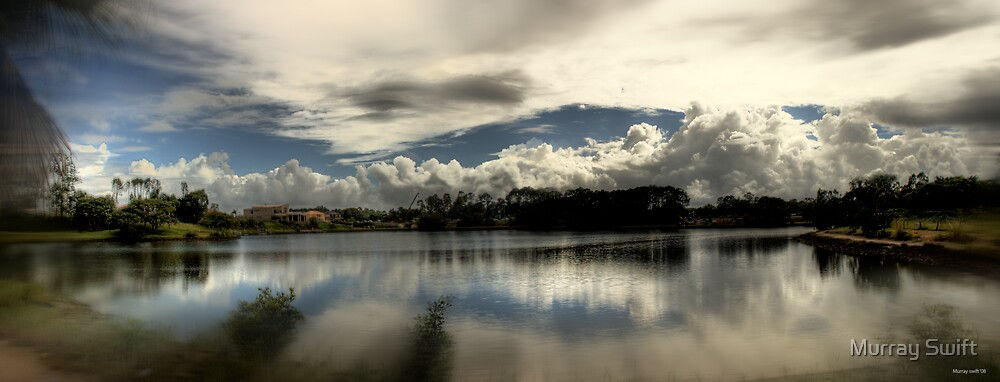 The lake on a cloudy morning by Murray Swift