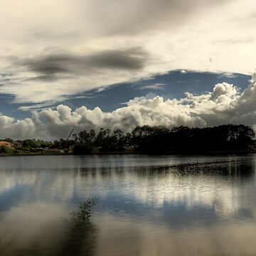 The lake on a cloudy morning by mswift