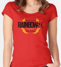 rainbow six Women's Fitted Scoop T-Shirt