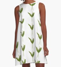 Lily of the valley in vector A-Line Dress