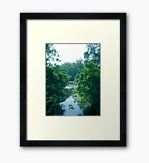 Tranquil Summer River Framed Print