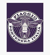Vespa Piaggio Club Logo  Photographic Print