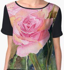 Rose Garden Impressionist Women's Chiffon Top