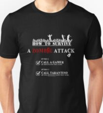 HOW TO SURVIVE A ZOMBIE ATTACK Unisex T-Shirt