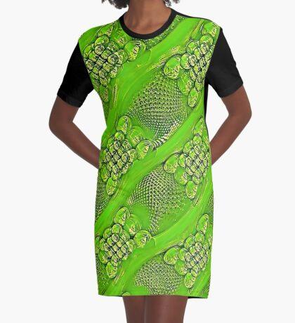 Golden green Graphic T-Shirt Dress