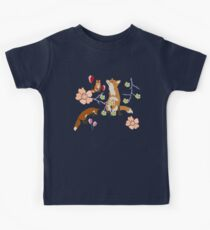 Fox in flowers Kids T-Shirt