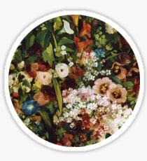 Vintage Flower Circle Sticker