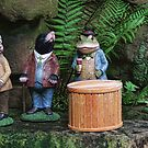 Ratty, Mole, Toad and Badger - Dewstow Gardens by Marilyn Harris
