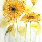 Yellow Gerberas by Cherie Roe Dirksen