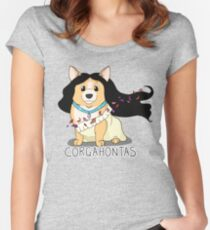 Corgahontas Women's Fitted Scoop T-Shirt