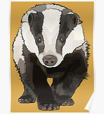 Badger Walking Towards You - AKA Bartholomew Brock Poster