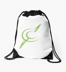 Cosmic Cloud Logo - Planet and Moon Drawstring Bag