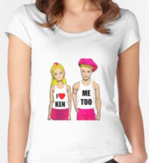 I Love Ken! (Me Too). Funny, Gay Art Women's Fitted Scoop T-Shirt