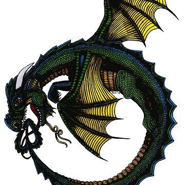 Ouroboros Dragon by Amiteestoo