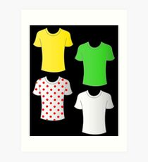 Tour de France shirts Art Print