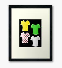 Tour de France shirts Framed Print