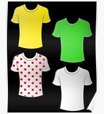 Tour de France shirts Poster