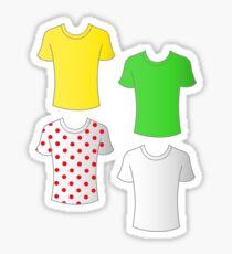 Tour de France shirts Sticker