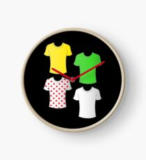 Tour de France shirts Clock