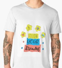 Follow your dreams background Men's Premium T-Shirt