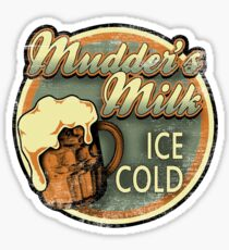 Mudder's Milk Vintage Sign Sticker