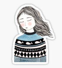 Pullover Wetter Sticker