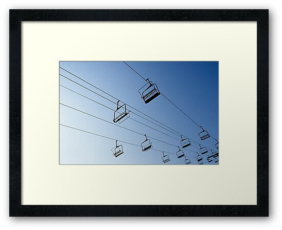 Ski Chair Lift by Richard Heyes