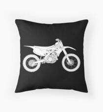 Motocross bike Throw Pillow