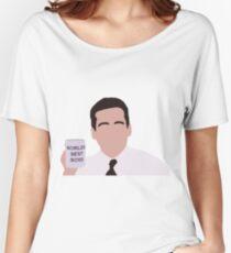 Michael Scott Minimal - World's Best Boss  Women's Relaxed Fit T-Shirt