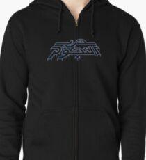 War in the Stars Arabic - Retro Vector Arcade Logo Zipped Hoodie