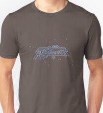 War in the Stars Arabic - Retro Vector Arcade Small Logo (Starfield) Unisex T-Shirt
