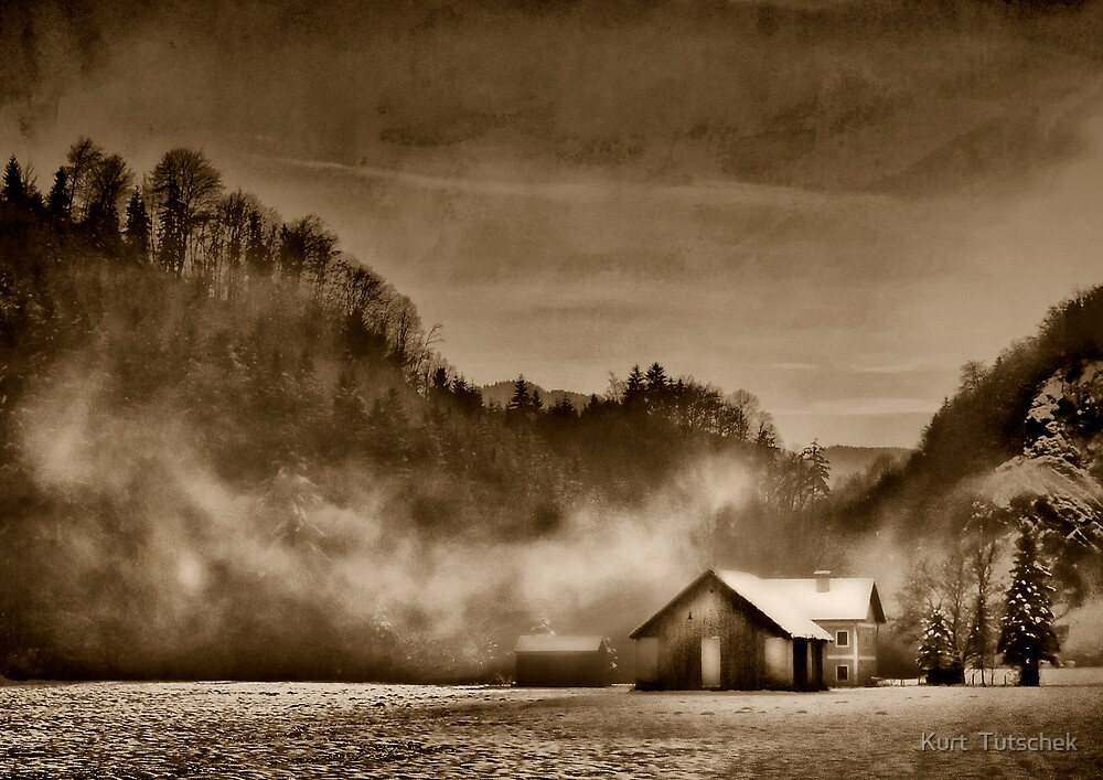 Winter in sepia by Kurt  Tutschek