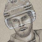 David Krejci - Boston Bruins Hockey Portrait by HeatherRose