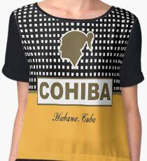 COHIBA HABANA CUBA CIGAR Chiffon Top