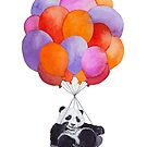 «Globos de acuarela panda» de Ruta Dumalakaite