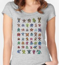 MegaMan 1to6 Robot Masters Women's Fitted Scoop T-Shirt