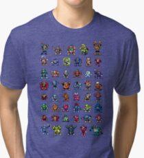 MegaMan 1to6 Robot Masters Tri-blend T-Shirt