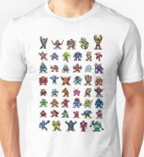MegaMan 1to6 Robot Masters Unisex T-Shirt