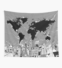 Posters wall tapestries redbubble world map wall tapestry gumiabroncs Image collections