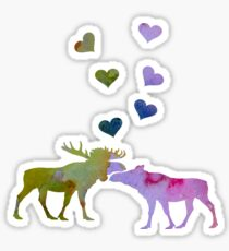 Moose couple Sticker
