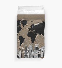 Weltkarte Bettbezug