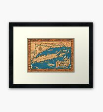 1953 Long Island map - special gift idea Framed Print