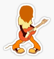 Guitar Player Rocking Out Sticker