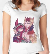 Xayah and Rakan  Women's Fitted Scoop T-Shirt