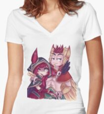 Xayah and Rakan  Women's Fitted V-Neck T-Shirt